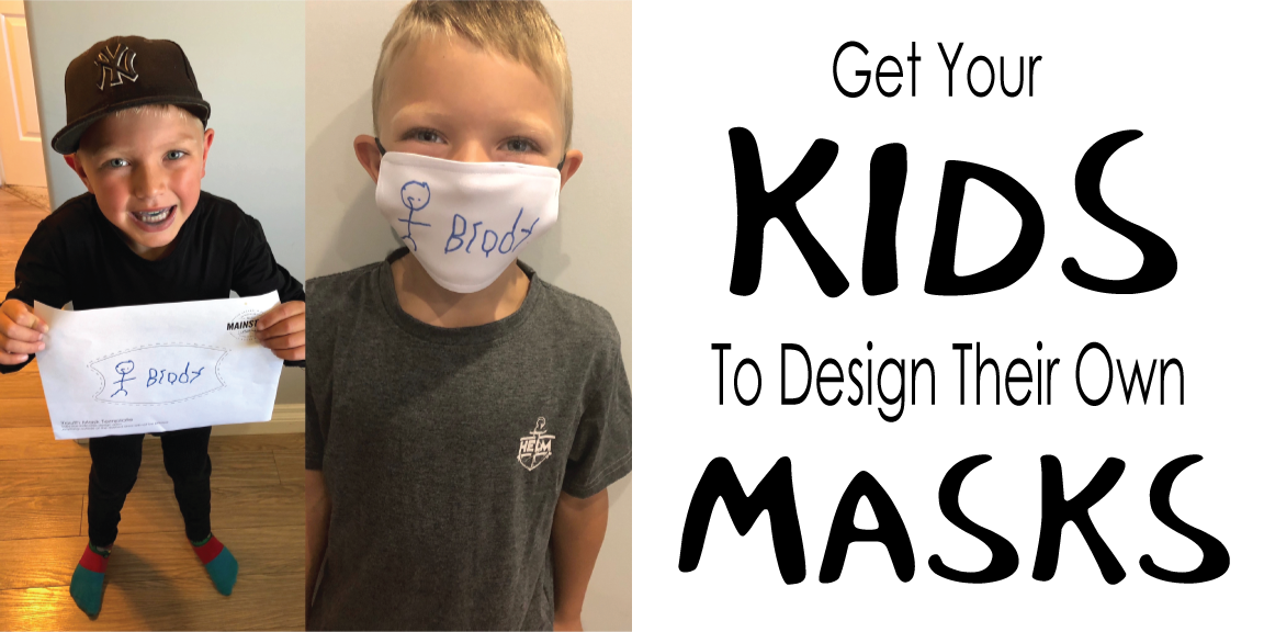 kids design masks